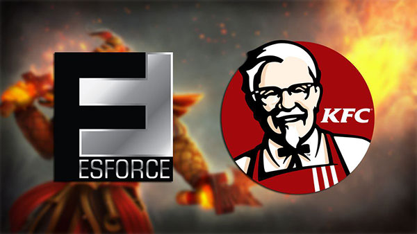 ESforce и KFC начинают сотрудничество в киберспорте